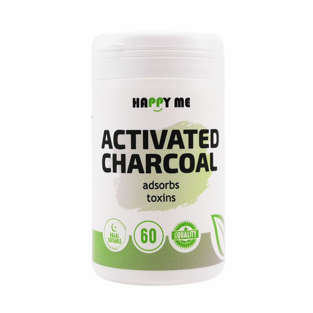 Happy Me Activated Charcoal Capsules 60's