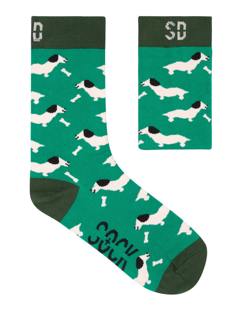 Sock Doctor: Hot Dogs 2 (Green Cotton)