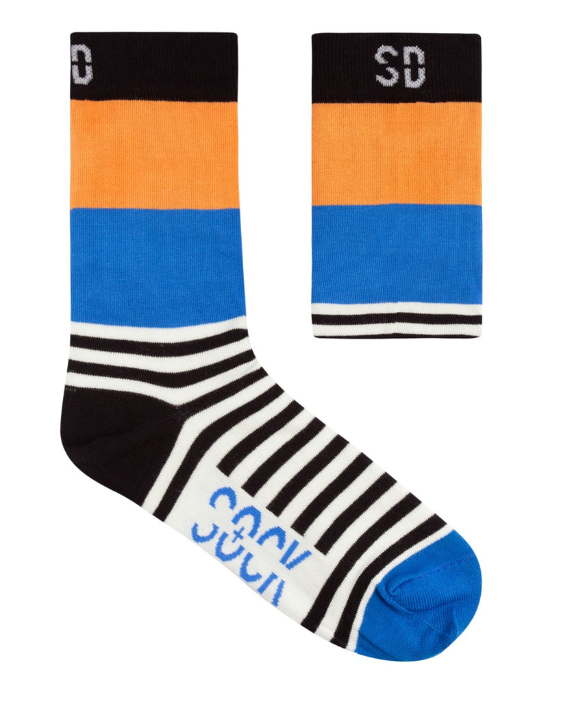Sock Doctor: Royal Blue & Orange (Bamboo)