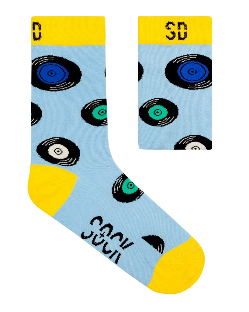 Sock Doctor: Vinyl (Light Blue, Yellow Cotton)