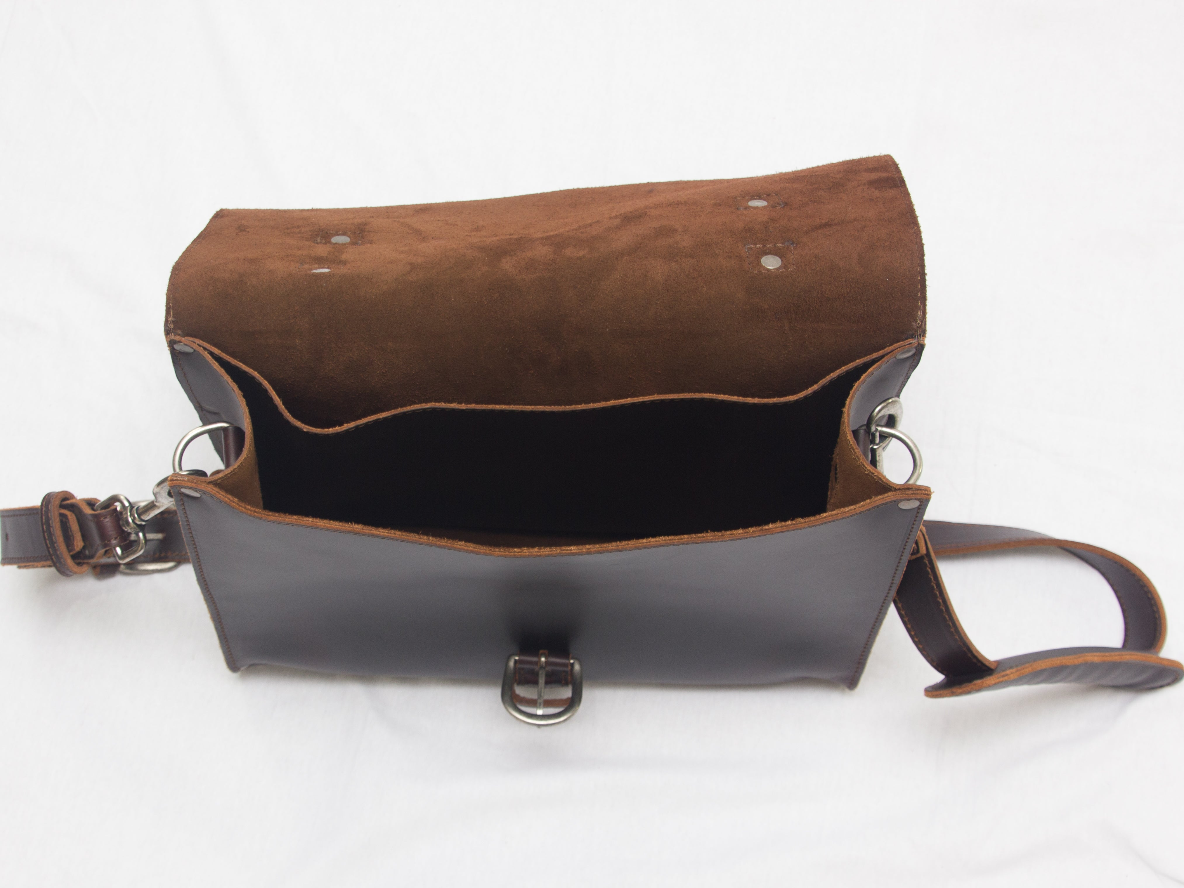2fcd668bb0 Leather Briefcase —Color Cedar made of full grain Leather. Made by ...
