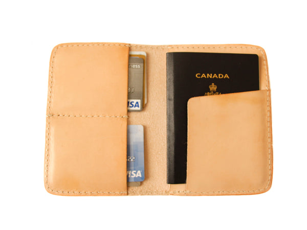 Passport Wallet Vegetable Tanned Yor Leather Goods