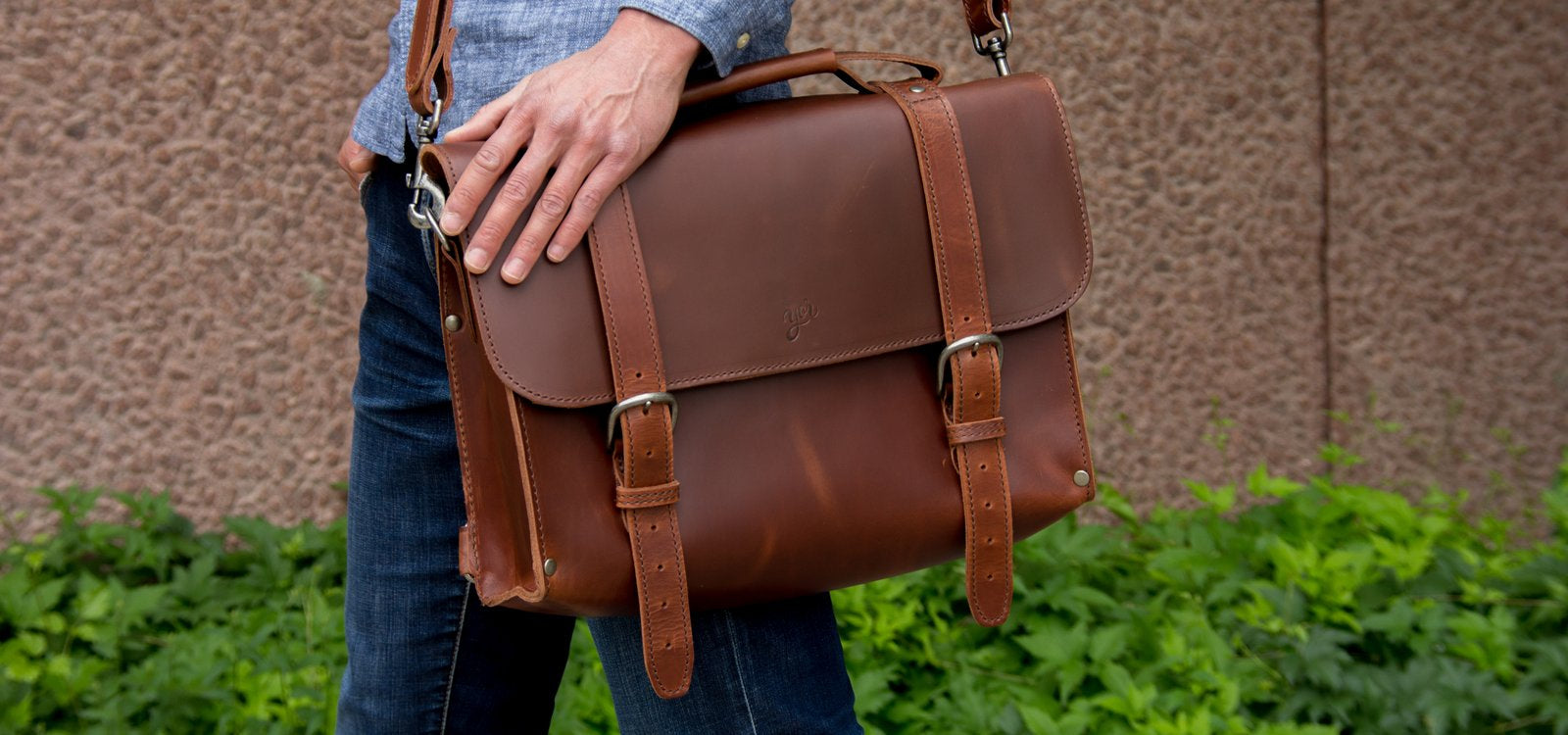 Leather Briefcase and Messenger bag