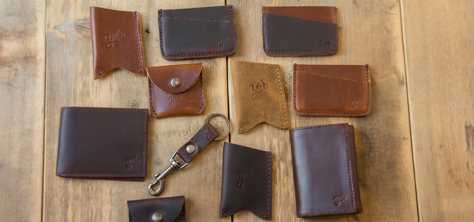Bifold and Trifold leather wallets Calgary Canada