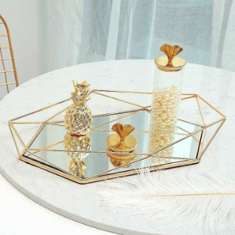 Geometric Mirror Tray
