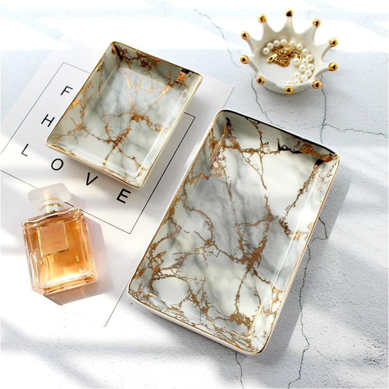 Marble Gold Vanity Tray