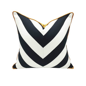 Geometric Black and White Pillow Cover