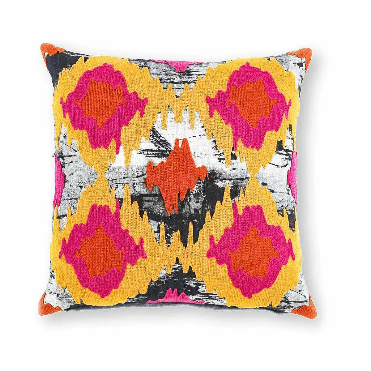 Joune Ikat 18 In X 18 In Multi Cushion Cover