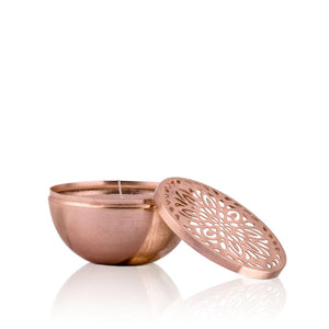 Filled  Copper,White Candle