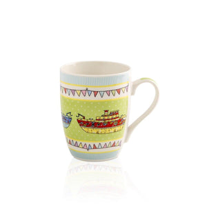 Canvas Mug Set Of 4-Assorted Multi