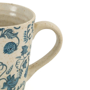 Aria Mug Ribbed (anar) White