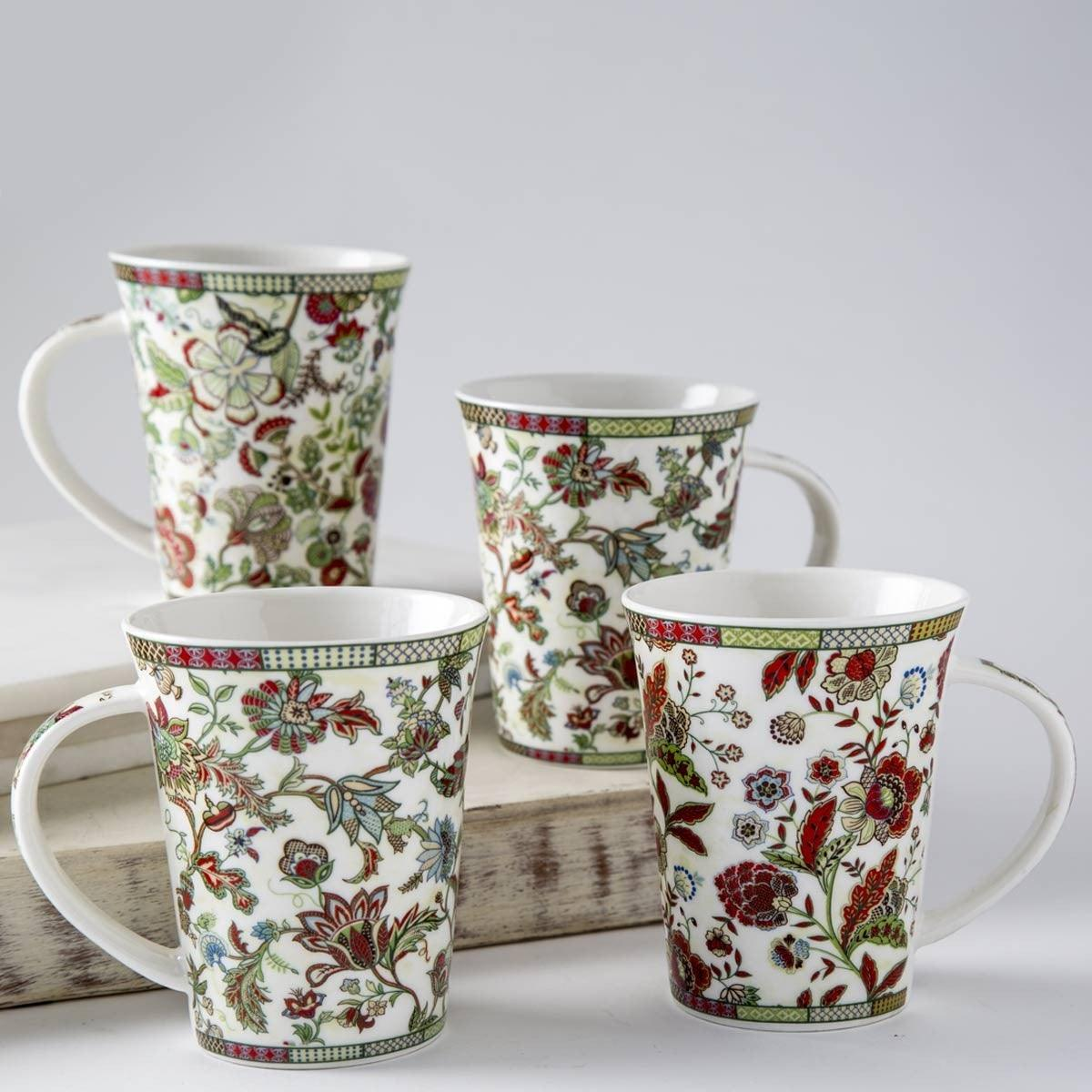 Floro Mug Set Of 4 Multi 350 ML
