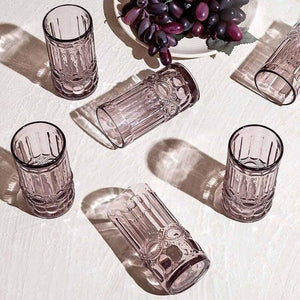 Thalia Mauve Set Of 6 Glasses 310 Ml