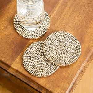 Comet  Coaster Set Of 4 Gold