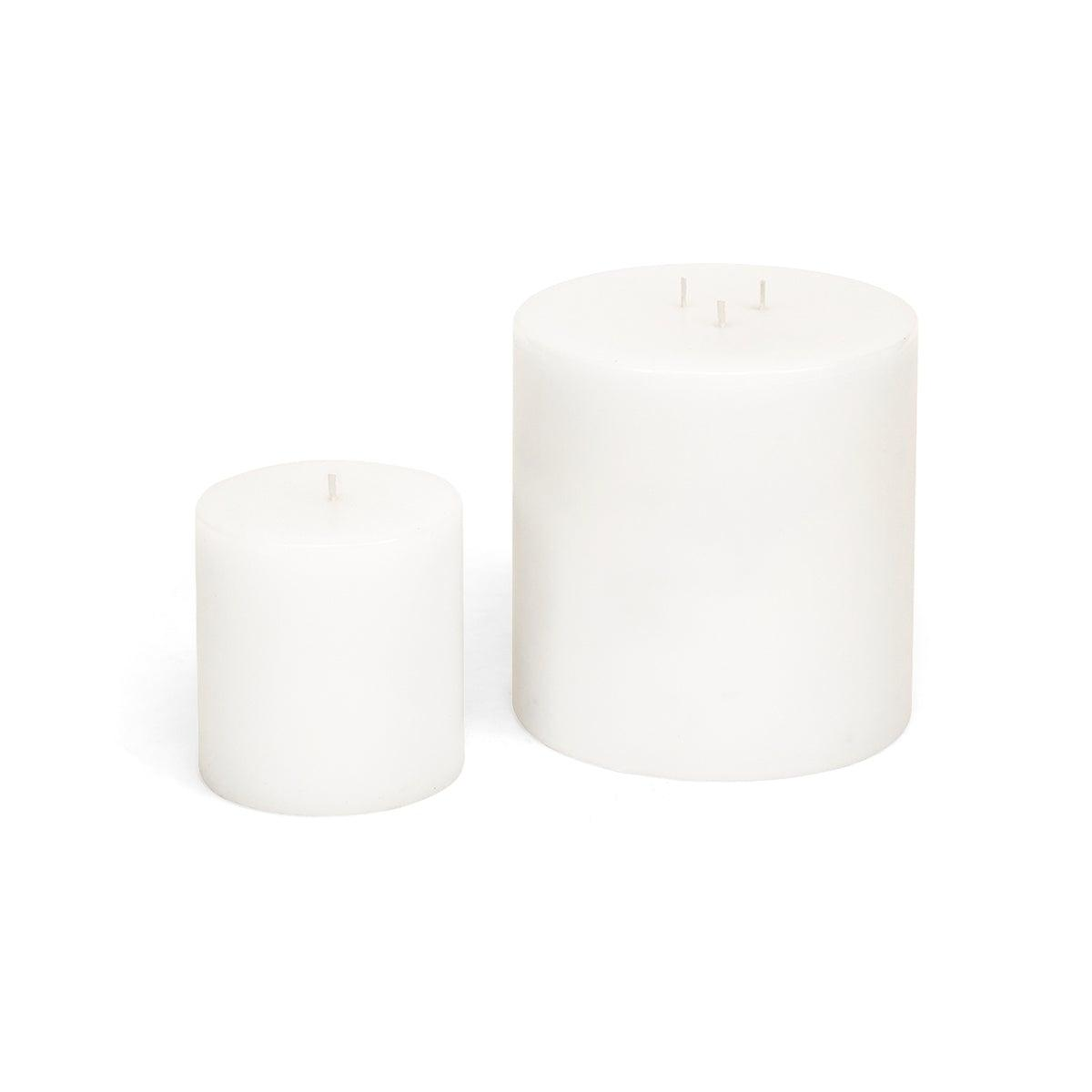 "White Pillar Candle 4"" x 4"""