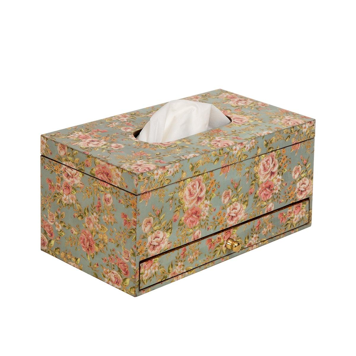 Aaron Tissue Box with Drawer