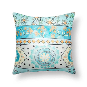 Caprese 18 In X 18 In Aqua Cushion Cover