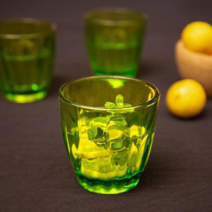 Water Drinking Glasses Green Set Of 6