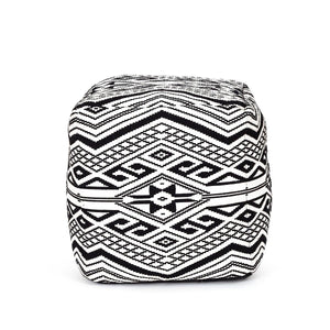 Enervee Pouffe Black & White Color