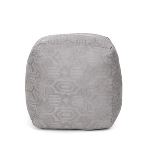 Gepragt Pouffe Grey Color