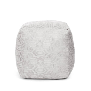 Geo-Persian Pouffe Grey Color