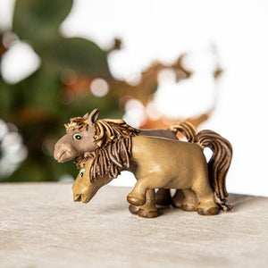 Paired Horse Brown Mini Object