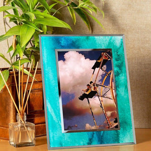 Glass Photo Frames Aqua
