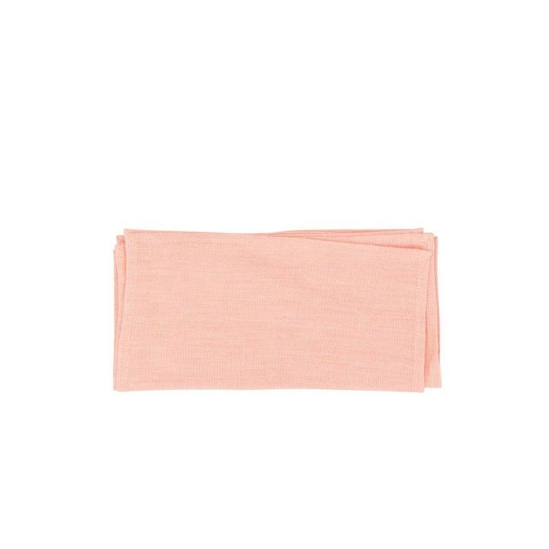 Soho Coctail Napkin Set Of 4 Coral