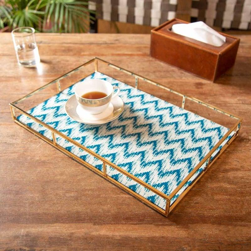 Chevron Gold Serving Tray