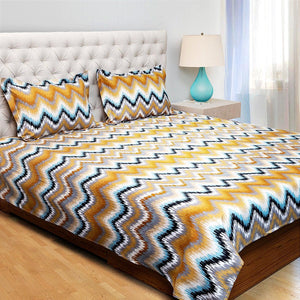 Jixi Glace King Size Bedsheet Multi Color