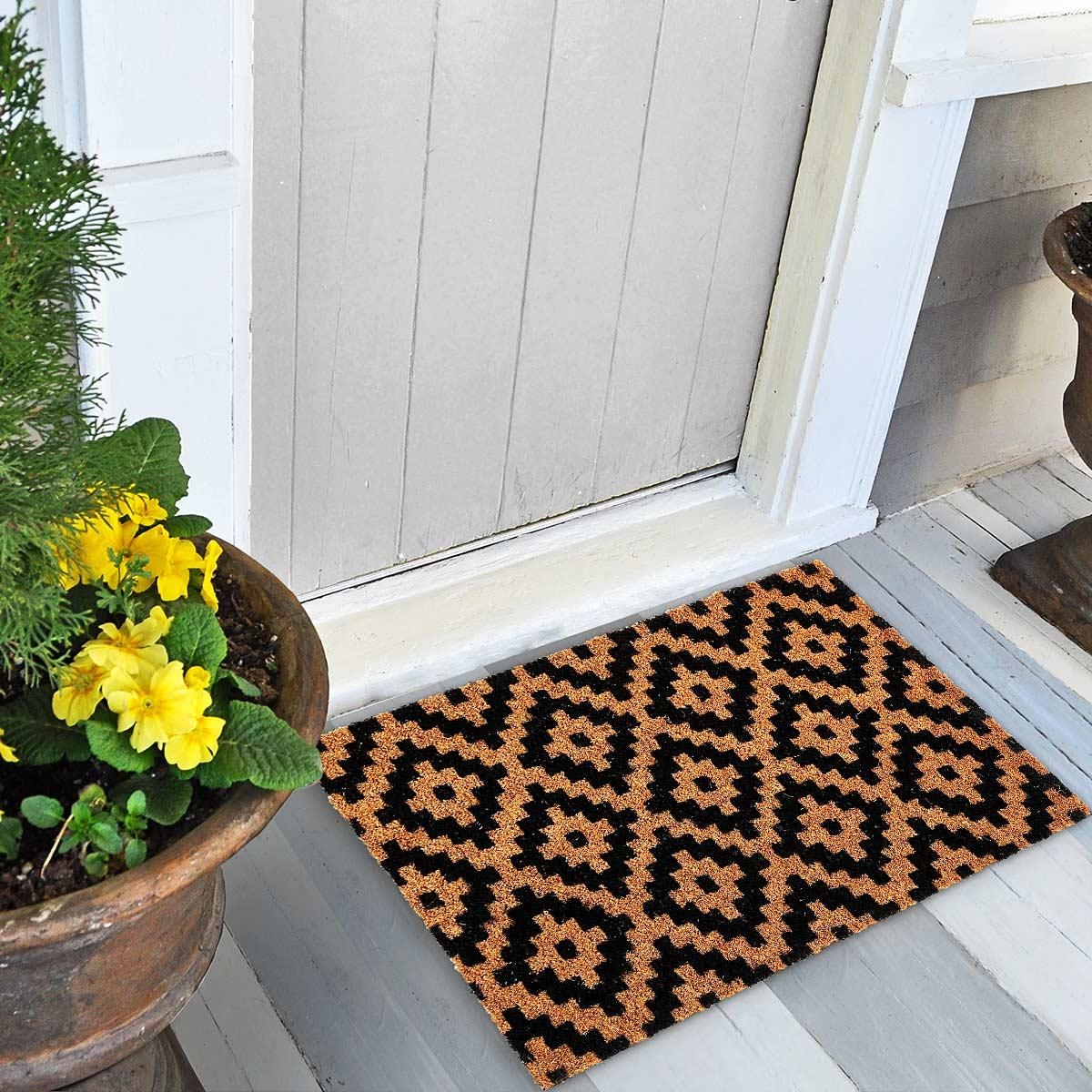 Urfa Black & Natural Doormat
