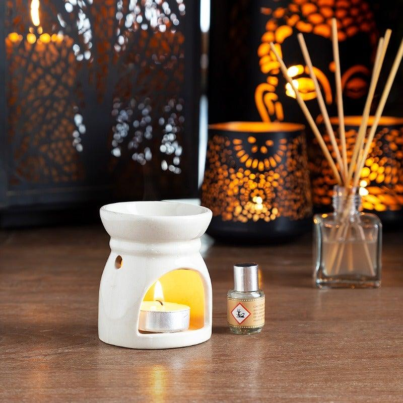 Corsage Oil Burner & T-Light Set,Vanilla
