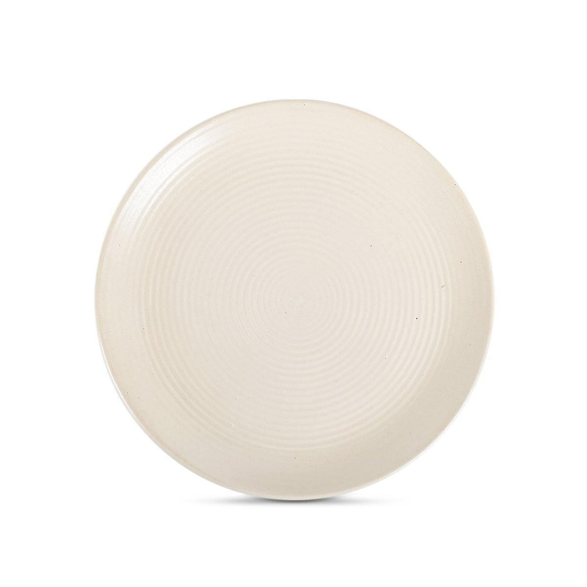 Mizo Side Plate Ribbed Cream