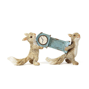 Lapin Carrying Clock  Grey Mini Object