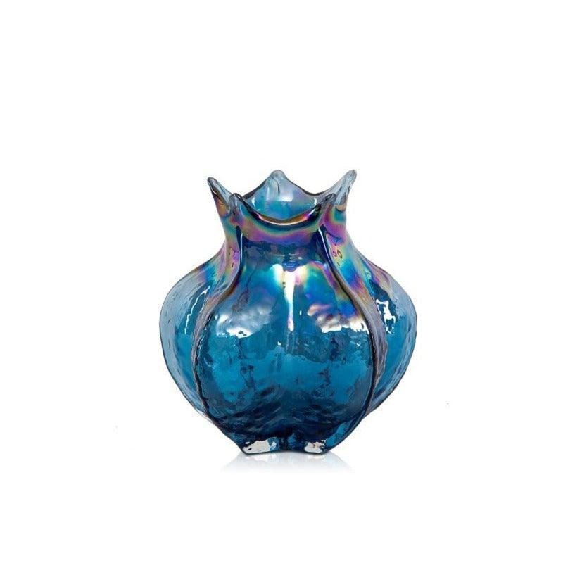 Carambola Blue Vase Small