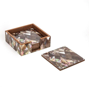 Rombo Coasters With Holder Set Of 6