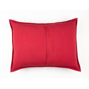 CREWEL 18 IN X 24 IN RED SHAM