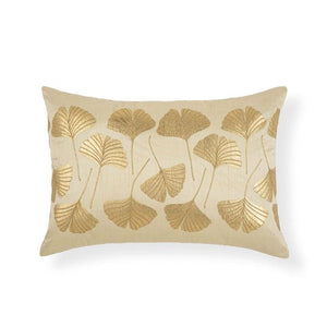 GINKO 14 IN X 20 IN IVORY CUSHION COVER