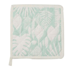 Hoja White & Green Pot Holder
