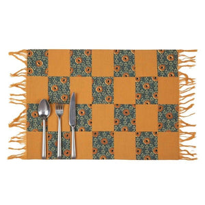 YAMA 14 In X 19 in 3D MULTI DESIGN PLACEMAT SET OF 4