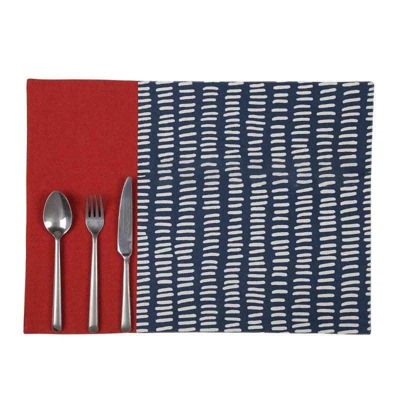 LINEA 20 IN X 20 IN PRINTED MULTI PLACEMAT SET OF 4