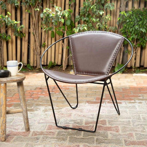 Cadair Iron Leather Black Chair
