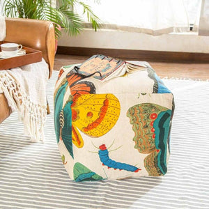 Papillion Pouffe  Multi Color