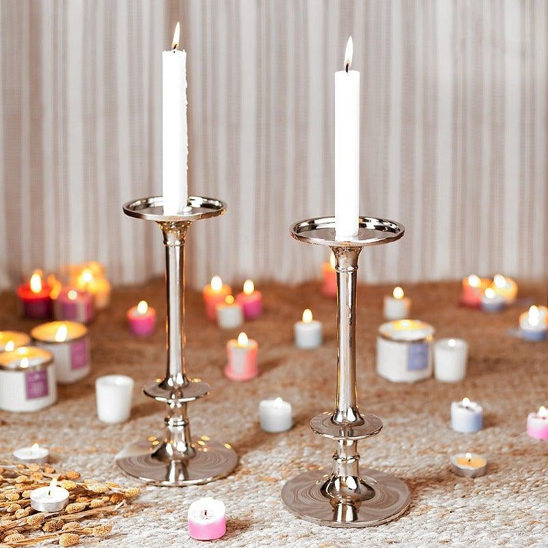 Amaris Silver Candle Holder
