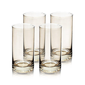 Rung Smoke Drinking Glasses, Set Of 4 - 310 Ml