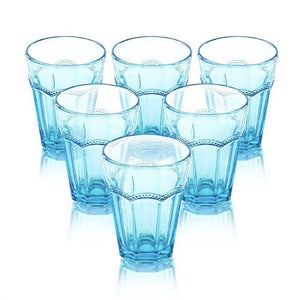 Neveah Light Blue Set Of 6 Glasses 270 Ml