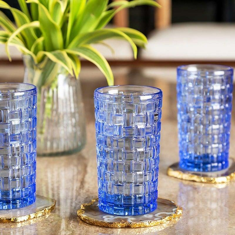 Mila Blue Set Of 6 Glasses  270 Ml