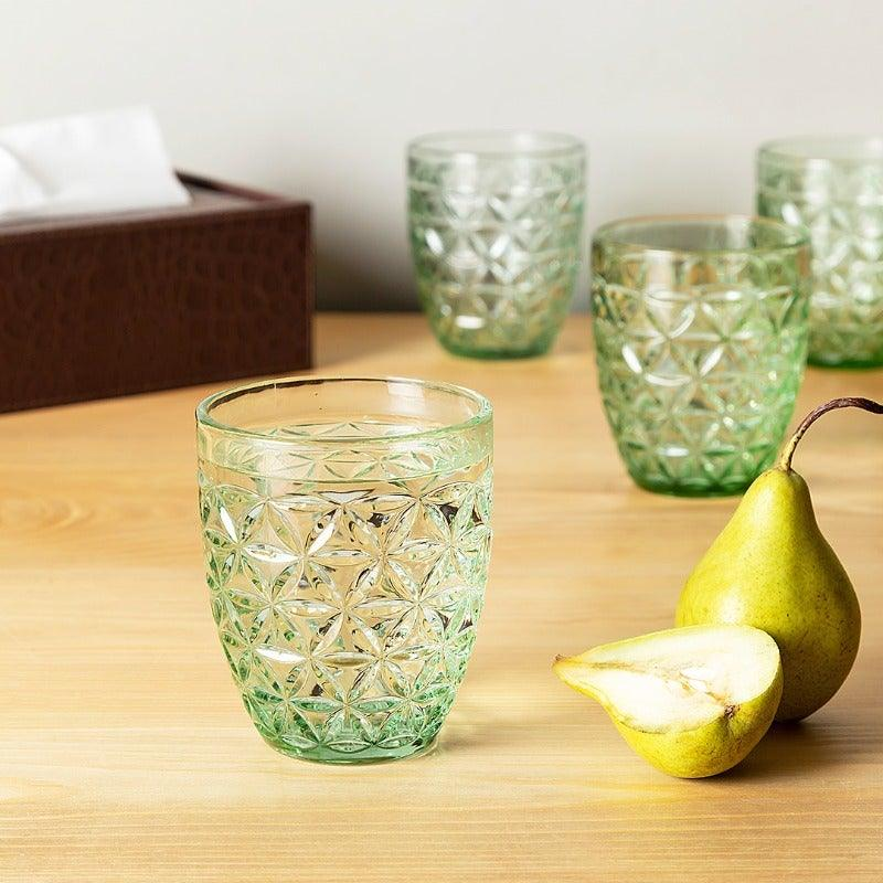Calla Green Set Of 6 Glasses 310 Ml