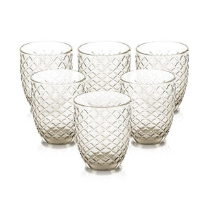 Calla Smoke Set Of 6 Glasses 310 Ml
