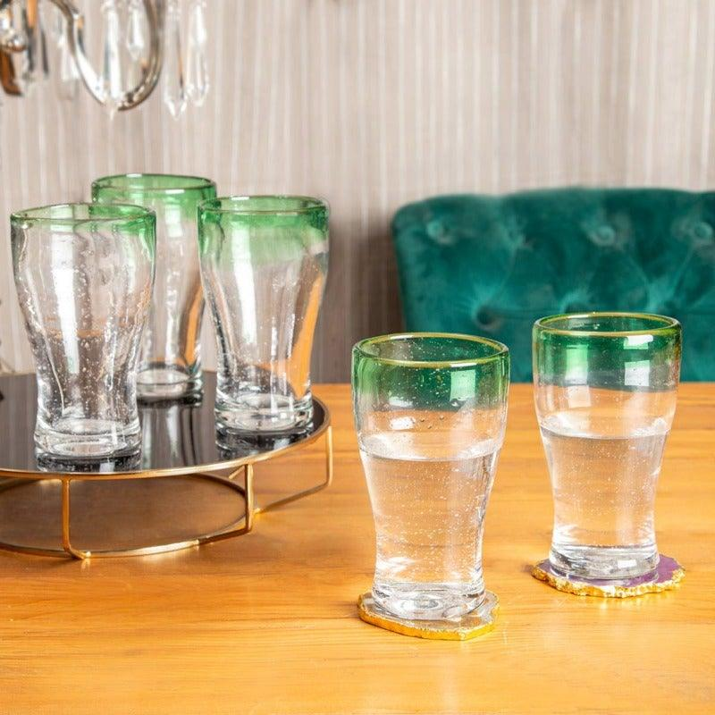 Alvi Clear Green Set Of 6  Glasses 420 Ml